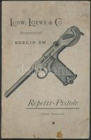 cca 1900 Ludw. Loewe & Co. Actiengesellschaft Berlin a Borchardt-féle maroktáras pisztoly leírása, két melléklettel, 15p / Ludw. Loewe & Co. Actiengesellschaft Berlin Repetir-Pistole Borchardt