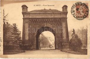 Metz, Porte Serpenoise / Prinz Friedrich Karl Tor / gate, TCV Card (EK)