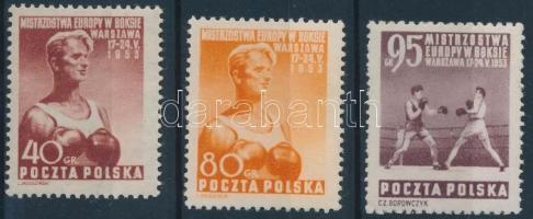 1953 Európai ökölvívó VB sor Mi 802-804