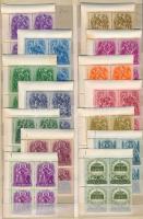 1938 Szent István (III.) sor ívszéli 4-es tömbökben (ívszéli rozsdafoltok, kisebb hibák)