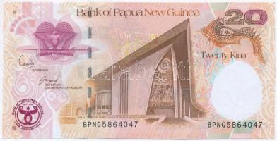 Pápua Új-Guinea 2008. 20K 35 éves a Pápua Új-Guinea Bank emlékkiadás T:I- Papua New Guinea 2008. 20 Kina 35th Anniversary - Bank of Papua New Guinea commemorative issue C:AU