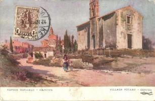 Corfu, Corfou; Potamou village, TCV Card (EK)