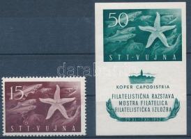 1952 Bélyegkiállítás Mi 83 + blokk Mi 2 (Mi EUR 85,-)