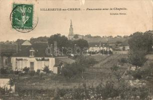 Villeneuve-au-Chemin, general view with chapel, TCV Card (felületi sérülés / surface damage)