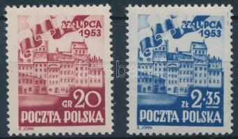 1953 Nemzeti ünnep sor Mi 809-810