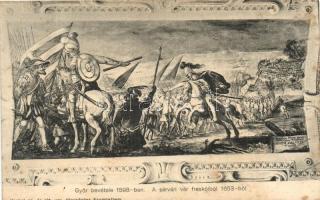 1598 Győr bevétele, a sárvári vár freskóiból. kiadja Knebel cs. és kir. udv. fényképész