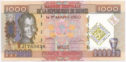 Guinea 2010. 1000Fr 50 éves a guineai valuta emlékkiadás T:I- Guinea 2010. 1000 Francs 50th Anniversary of Guinean Currency commemorative issue C:AU