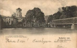 Zsolna, Zilina; Budatin vár, híd / castle, bridge (vágott / cut)
