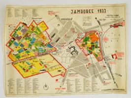 1933 Gödöllői Jamboree térkép, Bp., Athenaeum, 40x55cm