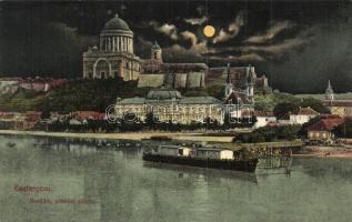 Esztergom, Bazilika, prímási palota, este
