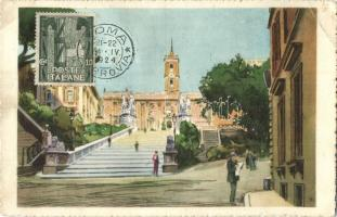 Rome, Il Campidoglio / Capitolium, Capitoline Hill, square (ragasztónyom / glue mark)