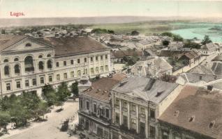Lugos, Lugoj; Látkép, Deutsch Izidor és Fia üzlete, kiadja Sziklai Lajos / general view, shop