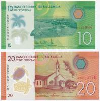 Nicaragua 2014. 10C + 20C T:I Nicaragua 2014. 10 Córdobas + 10 Córdobas C:UNC