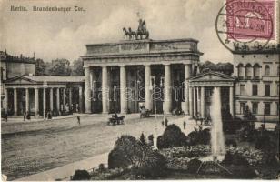 Berlin - 2 db RÉGI városképes képeslap, Brandenburgi kapu, park / 2 pre-1945 townview postcards, gate, park