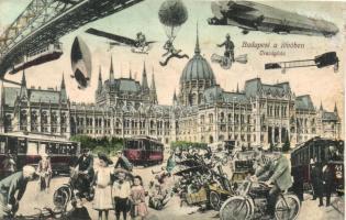 Budapest V. Országház a jövőben, montázs (r)