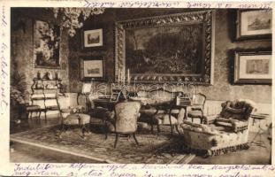 Budapest I. Erzsébet királyné emlékmúzeum, Erzsébet királyné dolgozószobája, belső