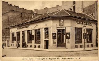 Budapest VII. Rottenbiller u. 52. Horváth Mihály Makk-hetes vendéglője (r)
