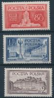 1953 Varsó újjáépítése sor Mi 824-826