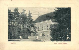 Bazin, Bösing, Bözing, Pezinok; Gróf Pálffy kastély, Klein Alfrédné kiadása, W. L. Bp. 2526. / castle (EB)