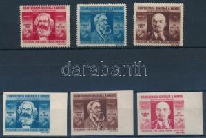 1945 Szakszervezet fogazott és vágott sor Mi 861-866 (Mi EUR 47,-)