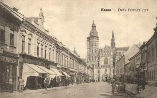 Kassa, Kosice; Deák Ferenc utca, Liszt nagyraktár / street, shop