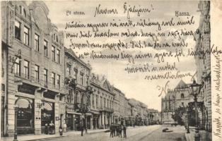 Kassa, Kosice; Fő utca, Eschwig Ede üzlete. Divald Károly / main street, shop (EK)