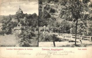 Pomáz, Margitliget, Lourdesi Mária kápolna és barlang, park (EK)