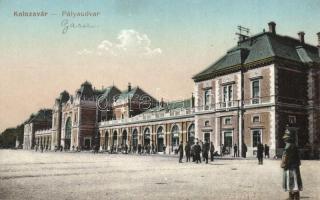 Kolozsvár, Cluj; vasútállomás / railway station