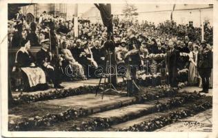 1940 Kolozsvár, Cluj; bevonulás, Horthy Miklós és Purgly Magdolna, Tasnádi Nagy András / entry of the Hungarian troops, So. Stpl (EB)