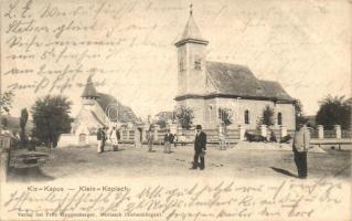 Kiskapus, Klein-Kopisch, Copsa Mica; Templom tér. Fritz Guggenberger / church, square