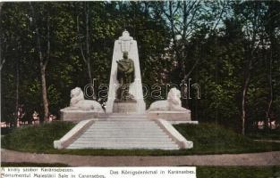 Karánsebes, Caransebes; Király szobor / statue