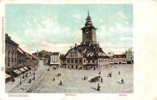 Brassó, Kronstadt, Brasov; Városház / town hall (EK)