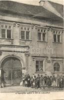 Beszterce, Bistrita; A legrégibb épület a XIV. századból, Ezüstműves háza, kiadja Bartha Mária / oldest house from the 14th century (EK)