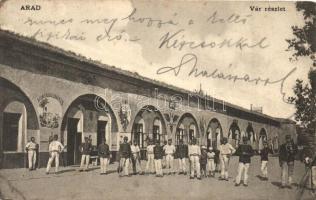 Arad, Vár részlet, Viribus Unitis felirattal / castle, soldiers (EK)