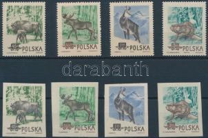 1954 Védett állatok Lengyelországban sor Mi 885-888 A+B