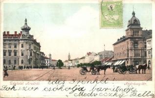 Arad, Andrássy tér, Bloch H. kiadása / square, TCV card