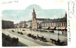 Arad, Andrássy tér és színház, Rüger G. és társa kiadása / square (EK)