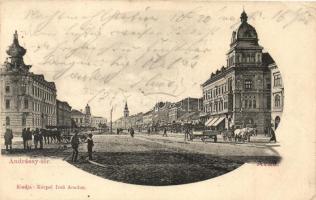 Arad, Andrássy tér, Kerpel Izsó kiadása / square (EK)