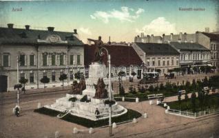 Arad, Kossuth szobor, Ring Ede üzlete, / statue, shop, automobile (EK)