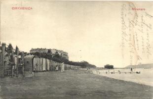 Crikvenica, Cirkvenica; Miramare / tengerpart / beach (ázott sarok / wet corner)