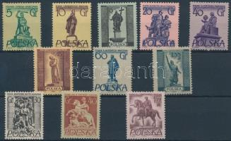 1955-1956 Varsói emlékművek (I-II) sor Mi 907-914 + Mi 974-976