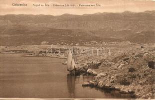 Crikvenica, Cirkvenica; Látkép Siló felől, vitorlás / general view, sailing boat