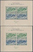 1938 Lengyel bélyegkiállítás blokkpár Mi 5 A + B