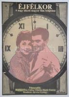 1957 Az Éjfélkor(Ruttkai Éva, Gábor Miklós) című film plakátja, hajtott szakadással, 80x56 cm