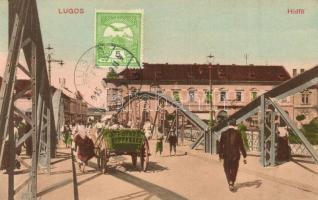Lugos, Lugoj; Hídfő, Sas gyógyszertár, kiadja Szidon József / bridge, pharmacy, TCV card