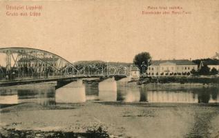 Lippa, Lipova; Maros folyó vashídja, W. L. 3041. / bridge