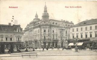 Kolozsvár, Cluj; New York szálloda, Tauffer Dezső és Schuster Emil üzlete / hotel, shops (EK)