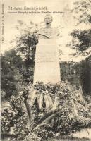 Érsekújvár, Nové Zamky; Czuczor Gergely szobra az Erzsébet sétatéren / statue
