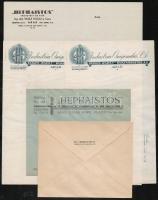 Aradi fejléces borítékok és levélpapírok, 5 db