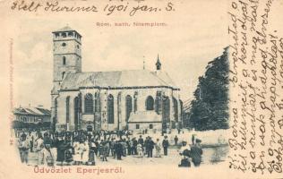 Eperjes, Presov; Római katolikus templom. Divald / church (Rb)